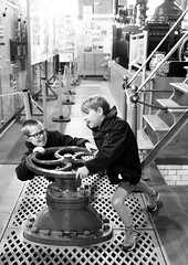 Two Boys at Brede Steam Giants