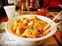 Triple dumpling noodle soup #Flushing #Queens #WorldsFair