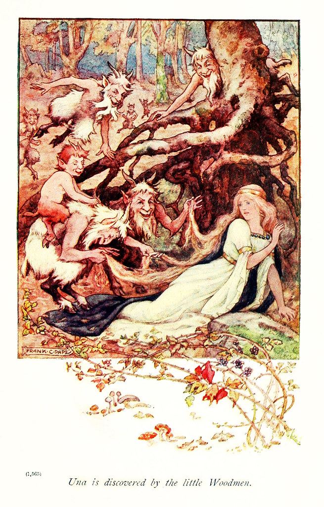 "Frank Cheyne Pape - The gateway to Spenser. Tales retold by Emily Underdown from ""The faerie queene"" of Edmund Spenser (1913) 4"