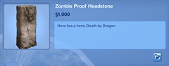 Zombie Proof Headstone