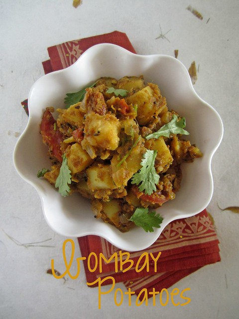 Anjum's Indian Vegetarian Feast - Bombay Potatoes