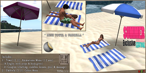 PROMO ! *RnB* Mesh Towel & Umbrella - Single & Couples - SFF EXCLUSIVE