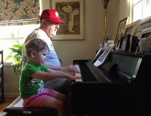 Playing Piano with Grandpa by Geoff Livingston