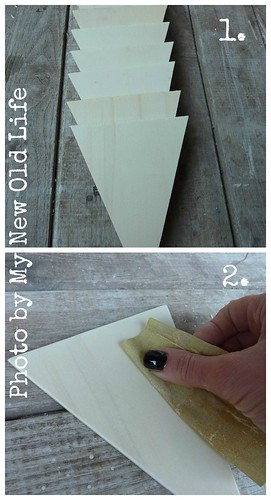 Tutorial bunting cup cake 1