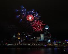 Cincinnati Reds post-game fireworks July 20, 2012