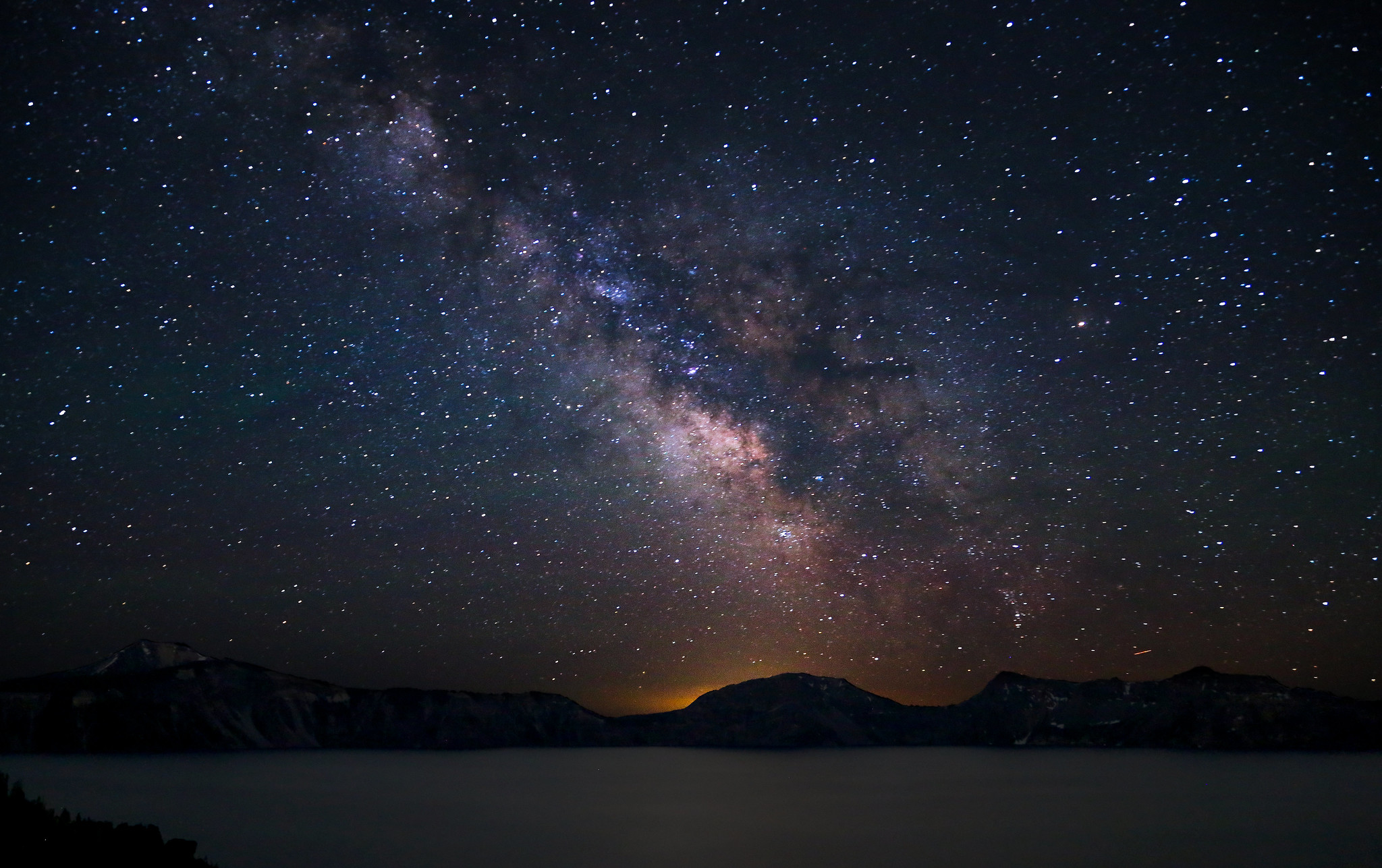 Milky Way Over Crater Lake [Explore 07/09/13]