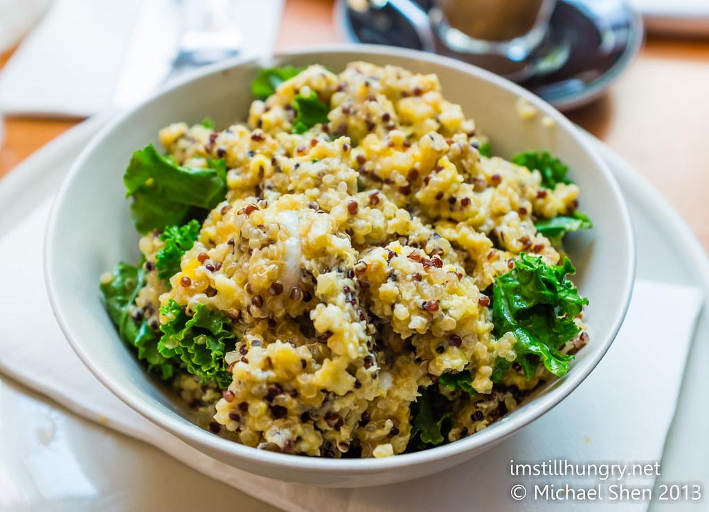 Superfood breakfast - quinoa & scrambled egg & kale palomino espresso