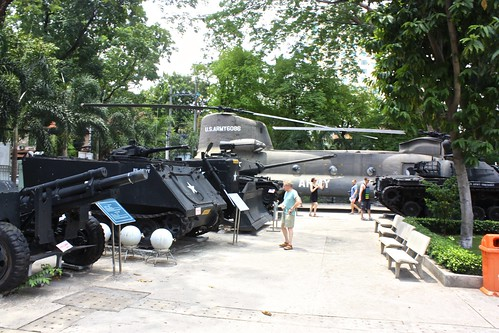 American military vehicles on display