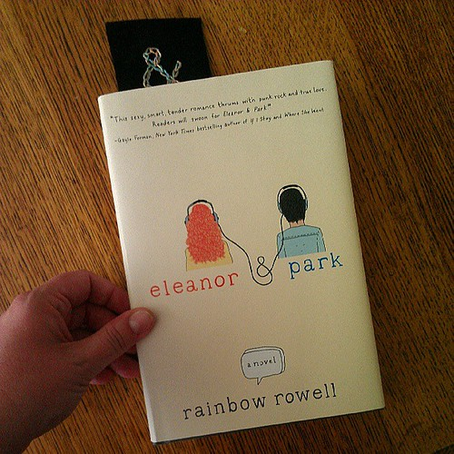 Eleanor & Park (and awesome ampersand bookmark made by the lovely @sarahsews2)