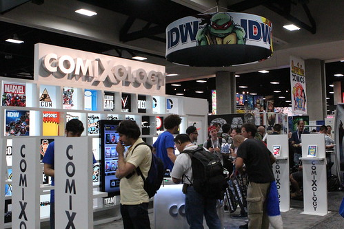 The Comixology booth.
