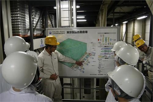 倉庫の説明@日本山村ガラス東京工場