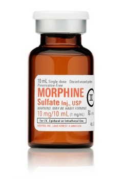 morphine iv 1mg 10ml vial Hospira