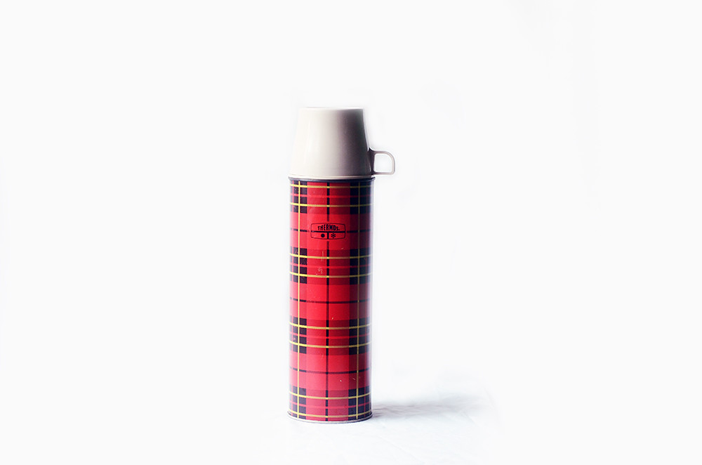 Vintage Red Plaid Thermos