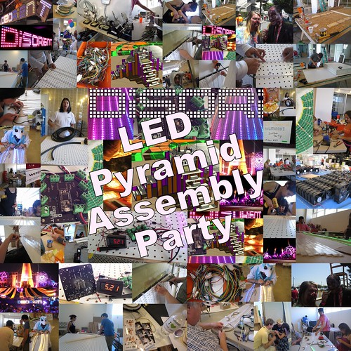 disorient led pyramid assembly party