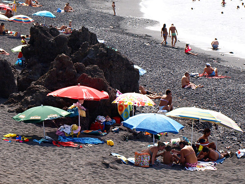 Umbrellas on Beach, North Tenerife