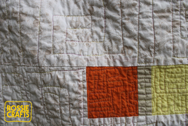 Rainbow Quilt of Experimentation-quilting