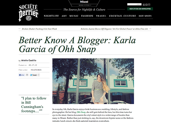 Societe Perrier - Better know a blogger