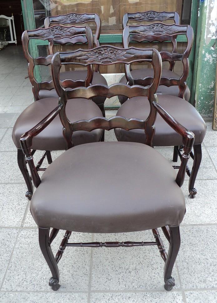 Juego 4 sillas y 1 sill n estilo provenzal no franc s - Sillon estilo provenzal ...