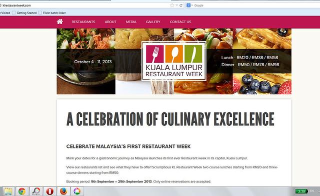 KL restaurant week 2013