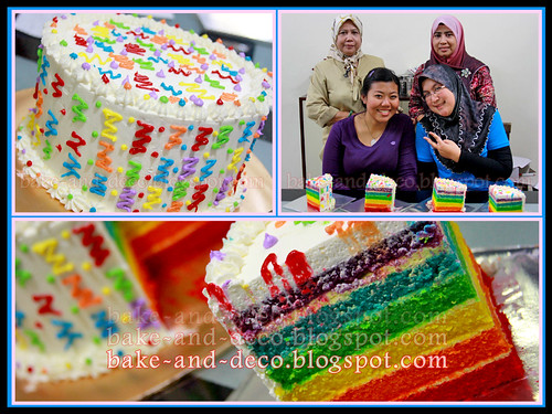 Baking & Deco Class: Rainbow Cake with Cream Cheese ~ 7 Oct 2012
