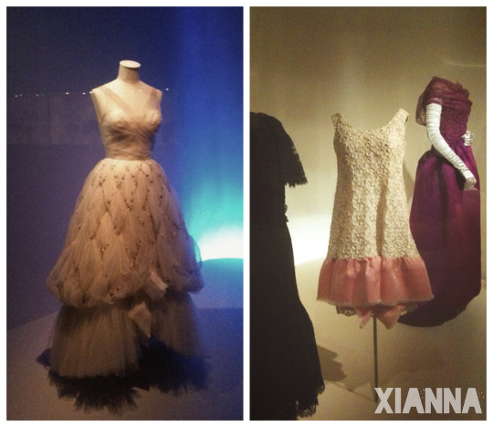 Dresses at Balenciaga museum