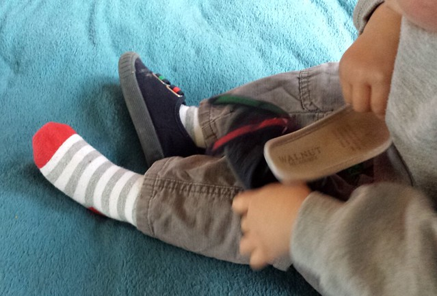 5 of 12: Eskil likes taking the liners out of his shoes