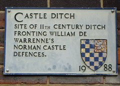 Photo of William De Warenne grey plaque