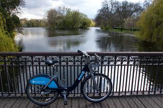 Balade à vélo dans le Regent's Park