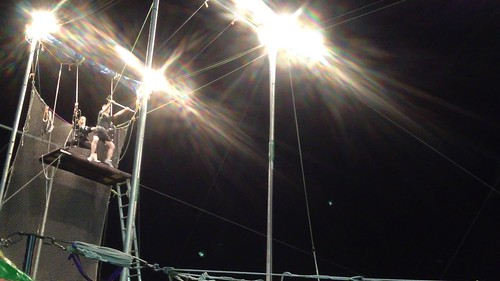 Trammell's first trapeze catch