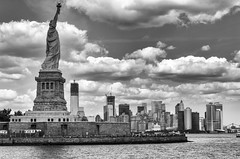 Statue of Liberty and WTC 1
