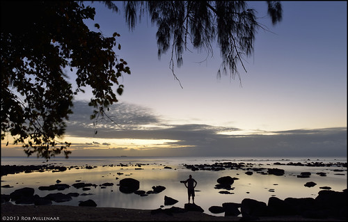 sunset me landscape evening scenery mauritius