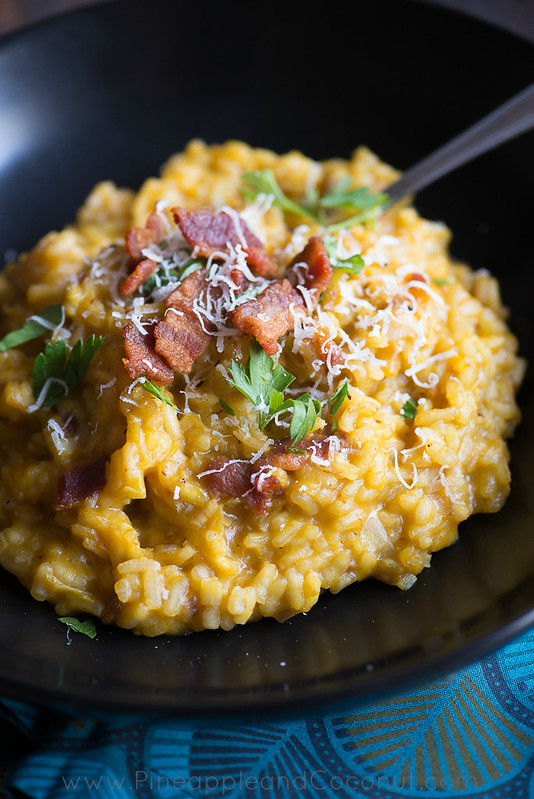 10049258926 67173c4e6a c Creamy Maple Bacon Pumpkin Risotto #PumpkinWeek
