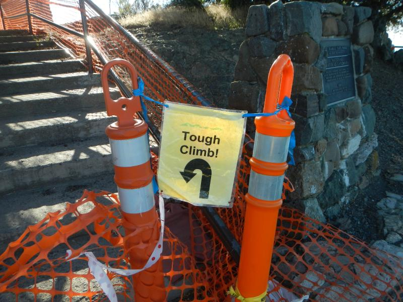 Tough climb indeed