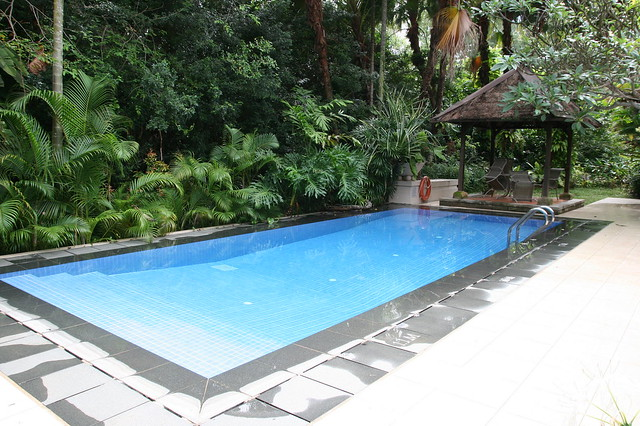 Each villa has its own swimming pool and garden