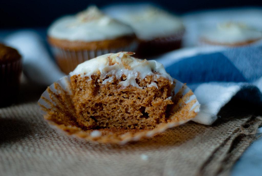 Pumpkin cupcake crumb