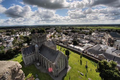 old ireland tower church stone cathedral round hdr stbrigid kildare roundtower backpackphotography stbrigidscathedral