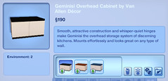 Geminisi Overheads Cabinet by Van Allen Decor