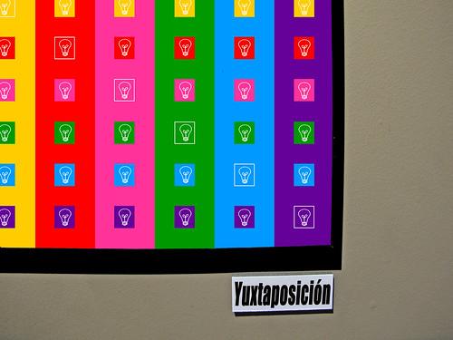 """""""Y""""  de yuxtaposición de colores"""