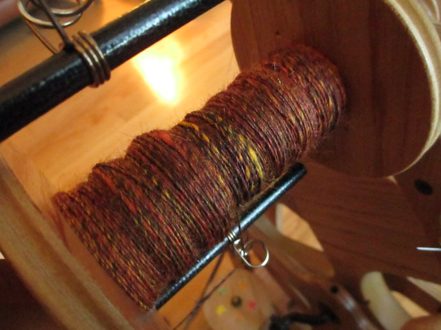 Autumn Batt - spinning