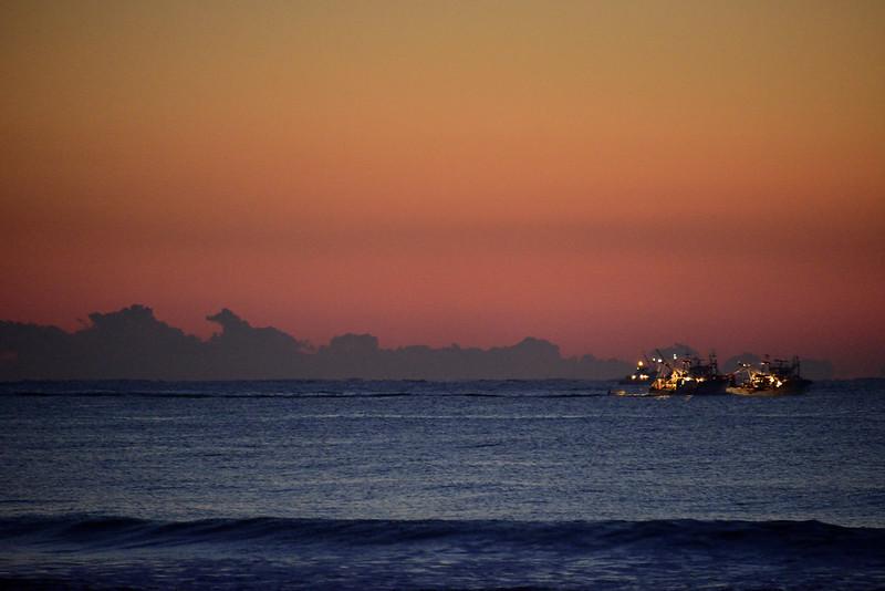 九十九里浜の夜明け