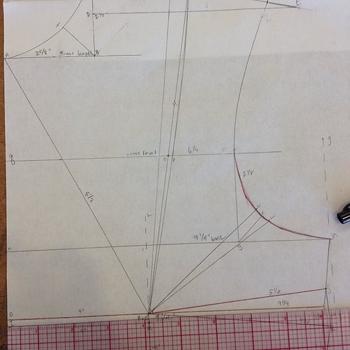 Much less fussing needed for figure 2 #patterndrafting #apparelarts