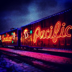 CP Holiday Train in the Rain #again