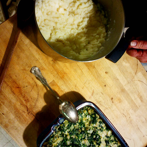 potatoes and spinach