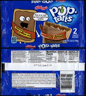 Kellogg's Pop Tarts - Frosted Brown Sugar Cinnamon - mascot 2-pack snack package - November 2013