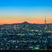 Tokyo sky tree & Fuji by Takuya_Igarashi