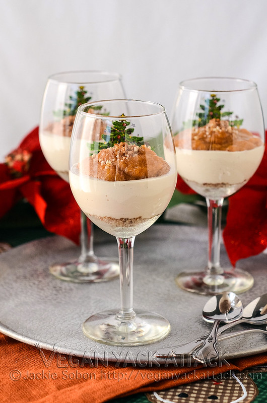 Persimmon Cheesecake in a glass! An easy, nearly raw dessert that is perfect for using up persimmons and fun for holiday parties!