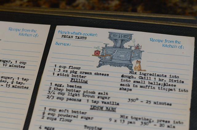 A typewritten recipe card.