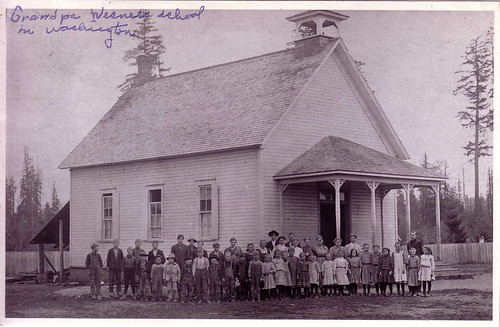 1909 Ray C Wisner at School near Forest, WA