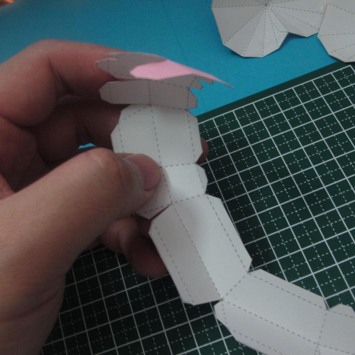 วิธีทำของเล่นโมเดลกระดาษรูปหัวใจ 007