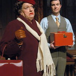 The Mousetrap - Pictured: Kathleen M. Brady (Mrs. Brady) and Josh Robinson (Giles Ralston) Photo P. Switzer Photography 2014